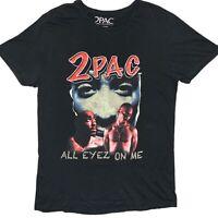 2Pac All Eyez On Me Mens Black Rap T-Shirt Size Large Tupac
