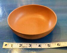 One 1 Vintage Ellingers Salad Bowl Wood Dinnerware Agatized Terra Cotta Color