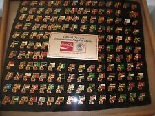 1984 OLYMPICS PINS INTERNATIONAL FLAG SERIES, COLLECTORS  COCA COLA