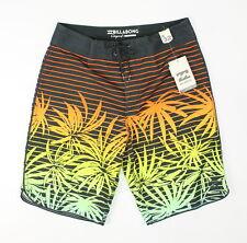 Billabong Mens 73 OG Print Boardshorts Orange Combo 32 New