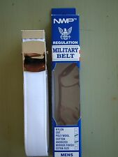 USN US NAVY ALL RANKS RATES E1-E6 ENLISTED MAN'S WHITE BELT WITH SILVER BUCKLE R