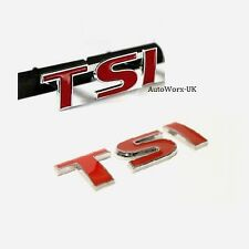 TSI Grill + Boot Badge Decal Emblem Seat Skoda Leon Ibiza Octavia Fabia Rapid