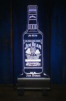 Jim Beam Bottle LED Sign,Edgelit,Bar,Mancave,Led,Remote Control,Light,Gift