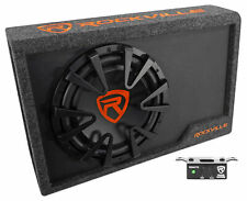 "Rockville RWS12CA Slim 1200 Watt 12"" Amplified Powered Car Subwoofer Enclosure"