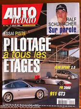 AUTO HEBDO 1401 du 17/7/2003; Essai Piste Pilotage/ Ralf Schumacher/ Clio Sport