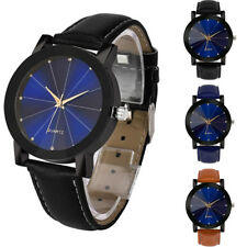 Luxury Quartz Sport Military Stainless Steel Dial Leather Band Wrist Women Watch