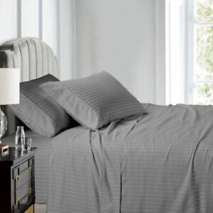 650 Thread Count Cal King Easy Care Cotton Deep Pocket Striped Sheet Sets