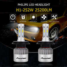 25200LM 252W H1 LED Headlight Bulbs PHILIPS Lamp Conversion Kit 6500K Canbus US