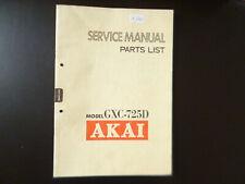 Original Service Manual Schaltplan  Akai GXC-725D