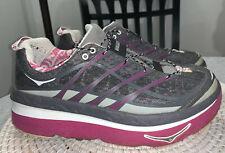 Hoka One One Mafate 3 Trail Running Shoes Gray Cross Fitness Womens Sz 8.5 $170