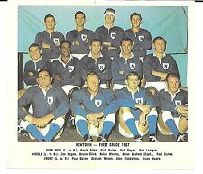 1967 DAILY MIRROR RUGBY LEAGUE TEAM COLOUR PHOTO CARD ~ NEWTOWN BLUEBAGS
