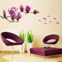 Bricolage Magnolia fleur mur autocollant vinyle mural art salon maison décor