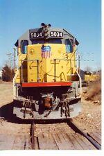 9F713 RP 1980s UNION PACIFIC RAILROAD SD-50 LOCOMOTIVE #5034 NOSE SHOT