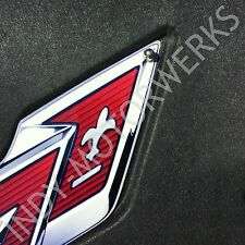 C7 CORVETTE UNDER HOOD CROSSED FLAG EMBLEM COMPLETE KIT FITS 14 - 18 CORVETTES
