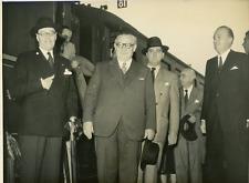 Paris, gare du Nord, Olivier Harvey, Ernest Bevin, Jacques Dumaine Vintage silve