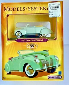 Matchbox Models of Yesteryear 1936 Lincoln Zephyr Mattel 2006 Fine Detail!