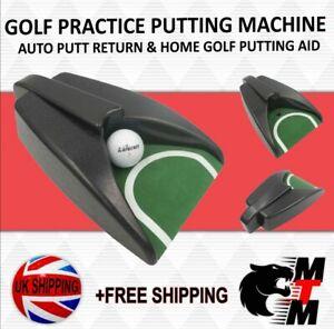 GOLF PRACTICE PUTTING MACHINE / AUTO PUTT RETURN / HOME GOLF PUTTING AID/PUTTER