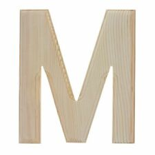 Unfinished Wooden Letter M (6.25 Inches)