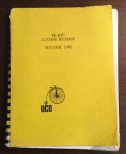 PE 105 Course Reader (Winter 1992, Softcover) PreOwnedBook.com UC Davis