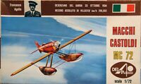 Delta 1/72 Macchi Castoldi MC 72 racing seaplane unmade complete kit sealed bag