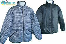 NIKE Sportswear NSW Mens Reversible Quilted Jacket 550 Fill Down Black Grey M