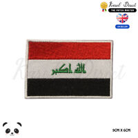 IRAQ National Flag Embroidered Iron On Sew On Patch Badge For Clothes etc