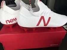 New Balance TAKELA PRO FG MSTPFWF1 Size 12 England White Soccer Football Cleats