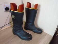 VINTAGE 80's BELSTAFF LEATHER MOTORCYCLE BOOTS SIZE UK 7