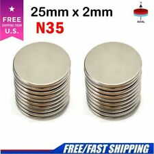 5 50pcs Super Strong Round Disc 25mm X 2mm Magnets Rare Earth Neodymium N35 Lot