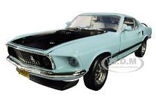 """1969 FORD MUSTANG MACH 1 BLUE """"CLASS OF '69""""  LTD 1/18 DIECAST AUTOWORLD AMM1181"""