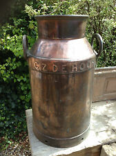 Vintage Copper Finish Milk Churn with Lid