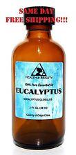 EUCALYPTUS ESSENTIAL OIL by H&B Oils Center AROMATHERAPY GLASS BOTTLE 2 OZ 59 ml
