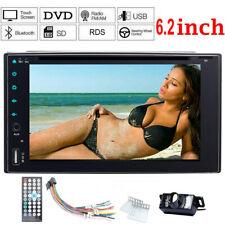 6.2 inch 2 DIN HD Car DVD CD Player Stereo Head Unit USB for Bluetooth Camera
