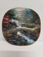 Thomas Kinkade Inspirations Serenity Prayer Plate