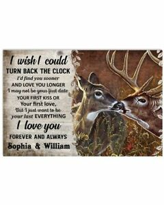 Personalized Deer Turn Back The Clock Horizontal Poster