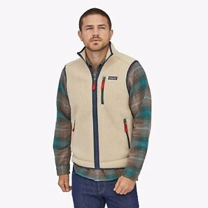 Patagonia Retro X Vest Deep Pile Fleece Oatmeal Men's Size Medium