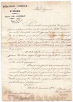 1851 VITERBO Nomina priore Carbognano Manoscritto Governo Pontifico
