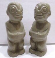 VINTAGE TRADER VICS TIKI GODS SALT & PEPPER SHAKERS SOUVENIR MADE IN JAPAN MINT!