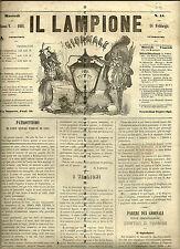 Il lampione giornale per tutti.1862 Firenze( Asburgo,Messico)Satira politica
