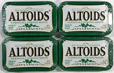 910345 4 x 50g TINS OF ALTOIDS - CURIOUSLY STRONG MINTS, SPEARMINT! U.S.A.