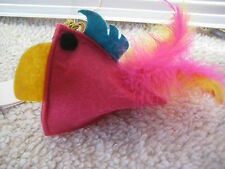 Bobby Piaf Felt & Feather Cat Toy NWT Pink France