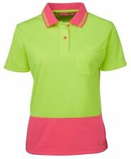 Career Short Sleeve Polo Solid Tops & Blouses for Women