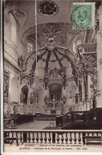 POST CARD  QUEBEC CANADA  INTERIOR OF BASILICA    VIAGG 1905