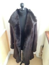 JOSEPH Anais long Shearling Suede Coat Jacket Size 36