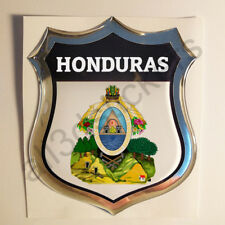 Pegatina Honduras Escudo de Armas 3D Emblema Vinilo Adhesivo Resina Relieve Moto