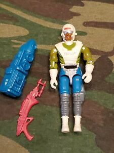 GI Joe Dee-Jay Action Figure, 1989 with gun and pack
