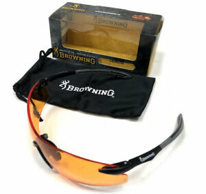 Browning Claybuster Orange Clay Pigeon Shooting Glasses