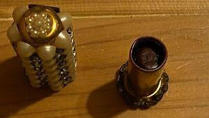 Vintage lipstick holder pearls & rhinestones