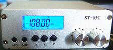 free shipping 0.1W/0.5W pll  FM transmitter stereo broadcast kit RCA input  05C