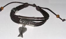 Supernatural bracelet ailes de Castiel bracelet cuir Castiel protection bracelet
